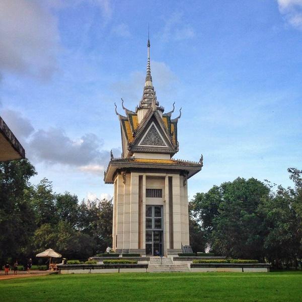 Memorial, Choeung Ek Killing Fields, outside Phnom Penh, Cambodia