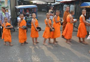 Beg-packers - Buddhist monks