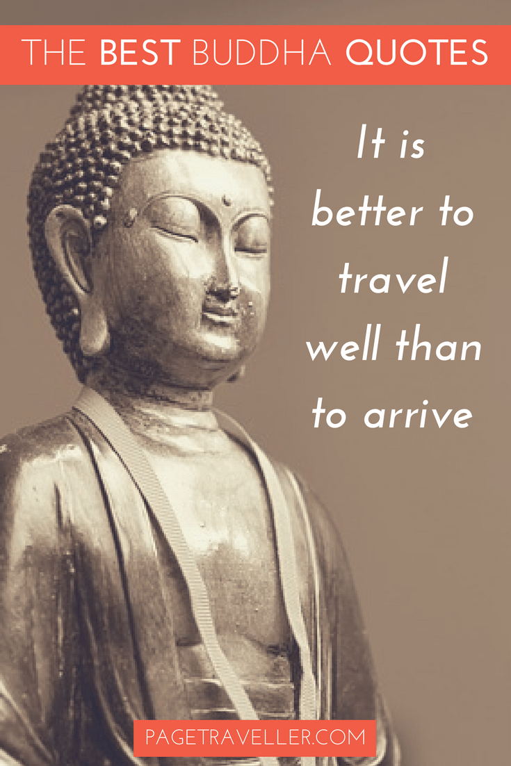 Buddha Quote Travel - Statue