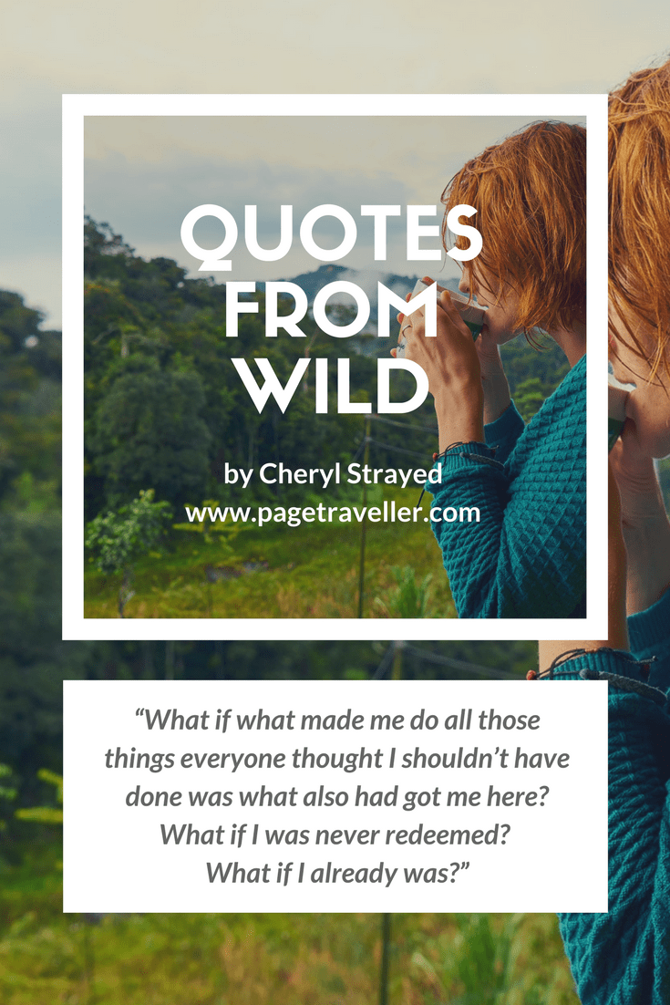 quotes from wild cheryl strayed redemption