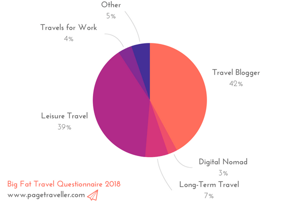 Which best describes the way you travel -pie chart
