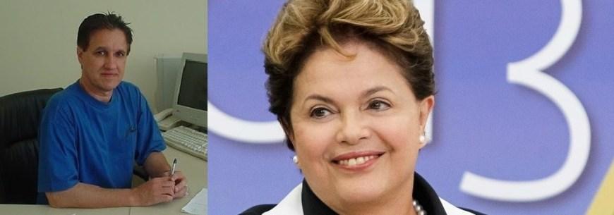Edmundo Arruda, sociólogo, e Dilma Roussef, economista, presidenta da República do Brasil