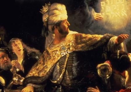 El banquete de Belshazzar' Rembrandt
