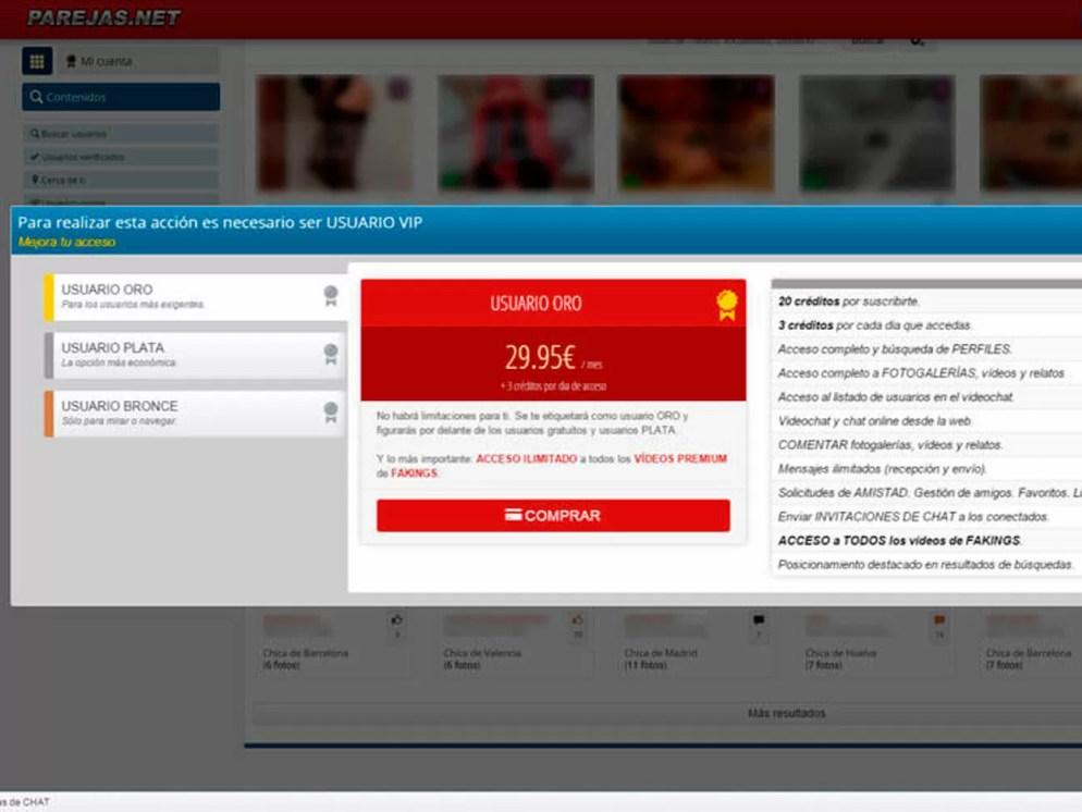 Parejas.net Precios