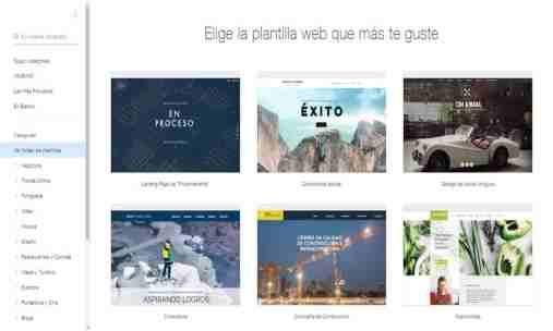 ejemplos wix gratis