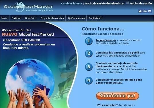 Global Test Market paginas para ganar dolares en internet