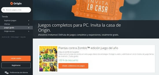 Invita la Casa paginas para descargar juegos