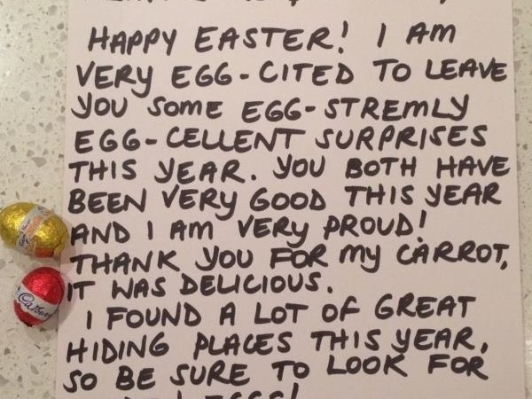 Letter from the Easter Bunny – (Jenni)