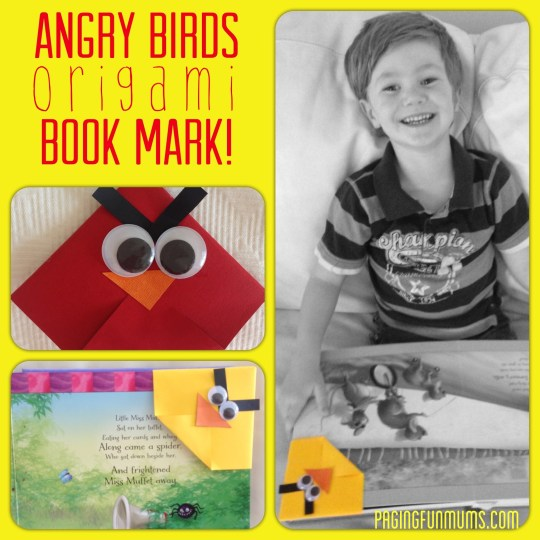 Angry BIrds Origami Book Mark!