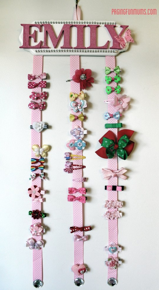 Adorable DIY Hair Clip Hanger!