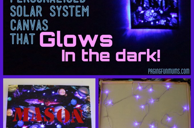 Glowing Galaxy Canvas – Full DIY instructions!