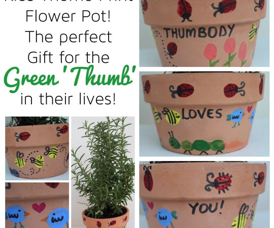 Thumbprint Flower Pot – Lovely gift for any green 'thumb'