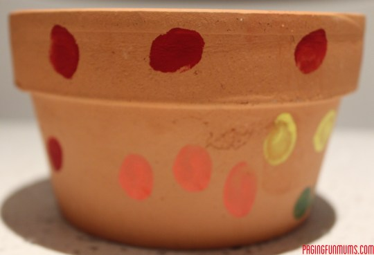 Kids Thumb Print Flower Pot!