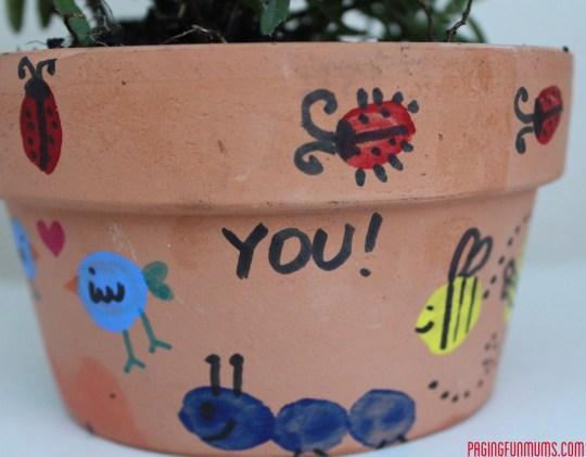 Kids Thumb Print Flower Pot!