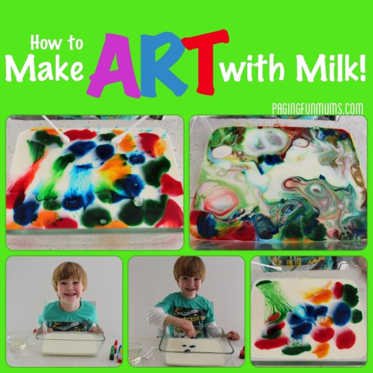 How to make art with Milk!