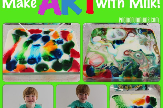 How to make ART with MILK! Includes awesome video