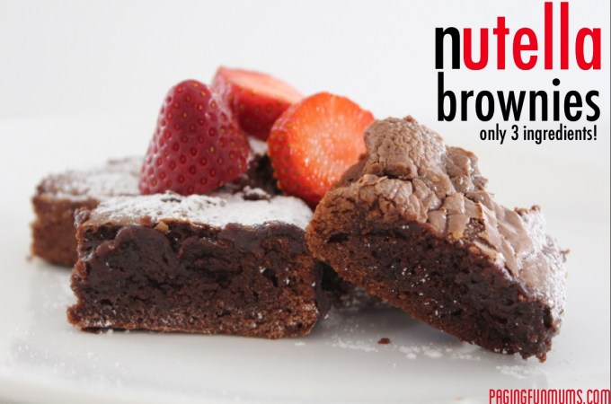 Nutella Brownies…say no more