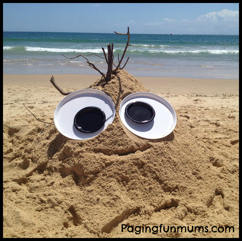 Sand Monster with Giant Googly Eyes