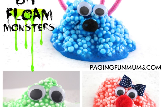 'Floam' Monsters! Gooey, sensory FUN!