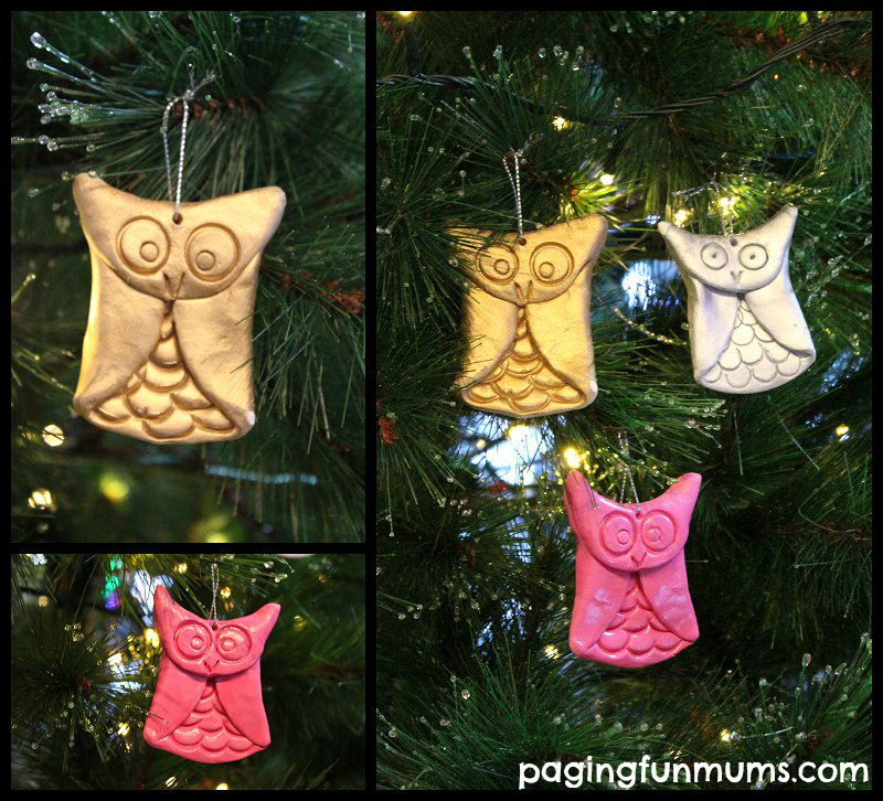 Our handmade Owl Family nesting in our Christmas tree.