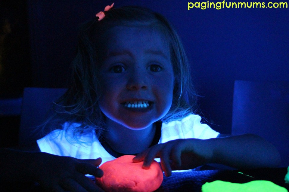 Glow in the dark Playdough 3
