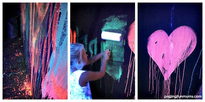 Glowing Chalk Paint for a GLOW party