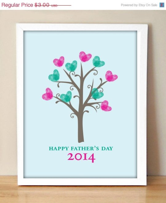 Father's Day Fingerprint Tree
