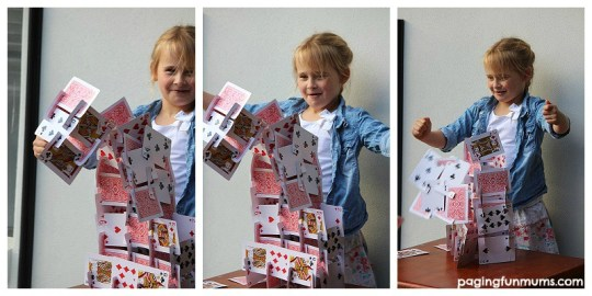House of cards! Made with a Playing Card Building Set!