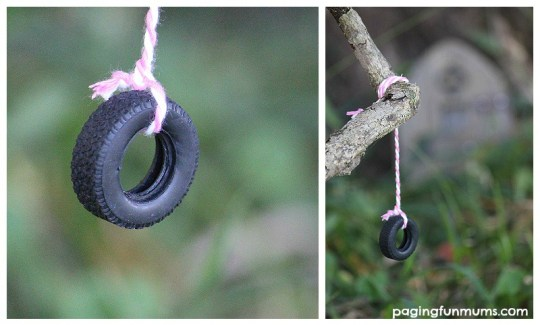 How to make a Mini Tyre Swing for your Fairy Garden