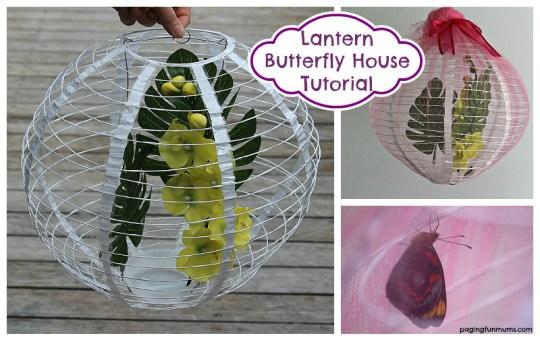 Paper Lantern Butterfly House Tutorial