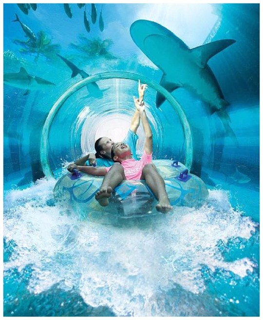 Underwater Slide at Atlantis The Palm Resort - Paging Fun Mums