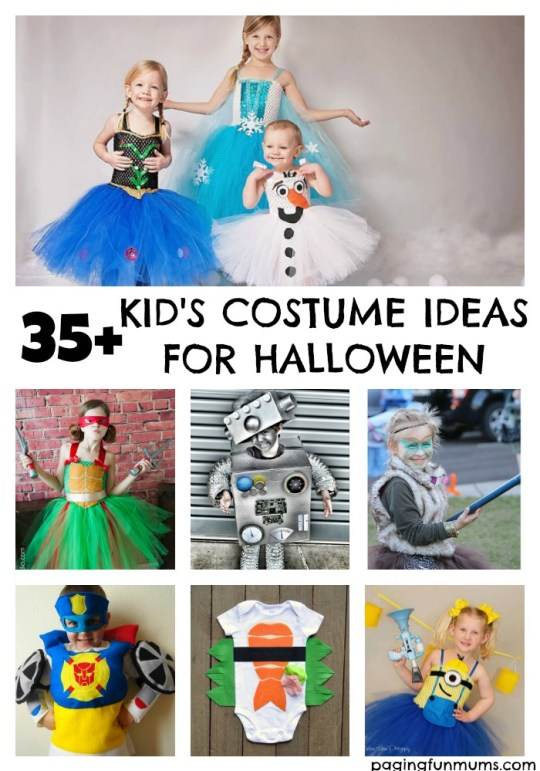 35+ Kid's Costume Ideas for Halloween!