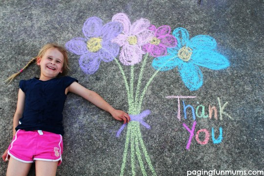 Chalk Drawing Photo Ideas - Thank you!