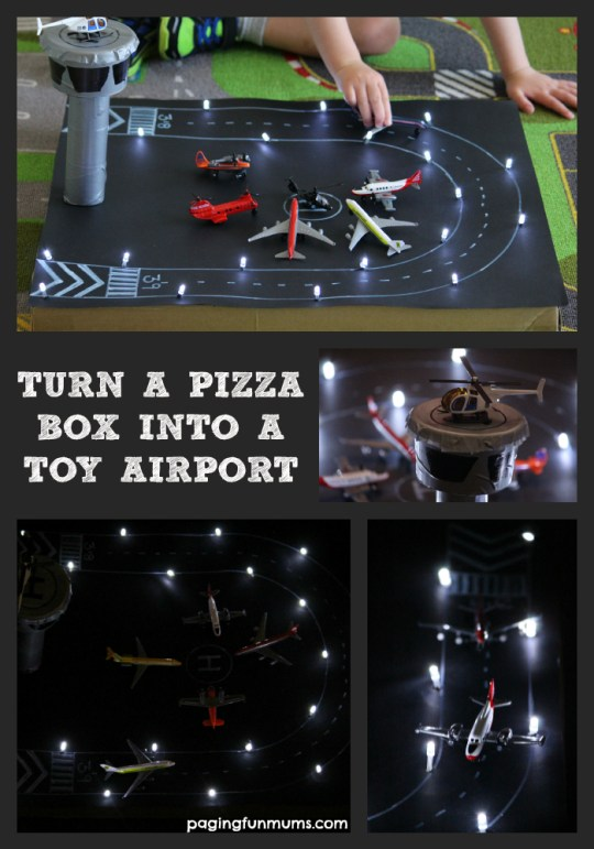 How to Turn a Pizza Box into a Toy Airport