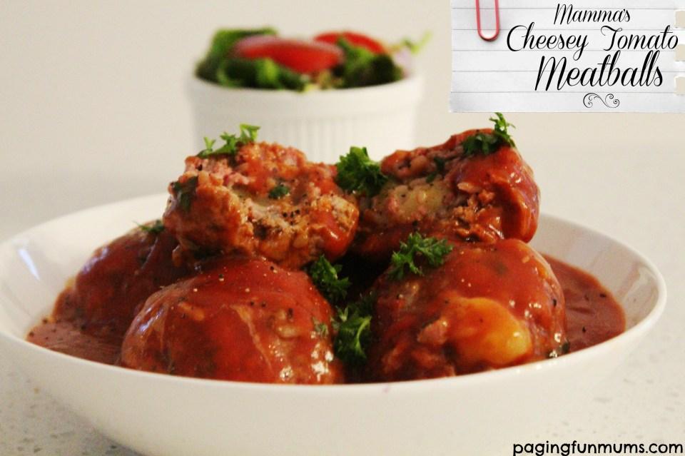 Mamma's Cheesy Tomato Meatballs