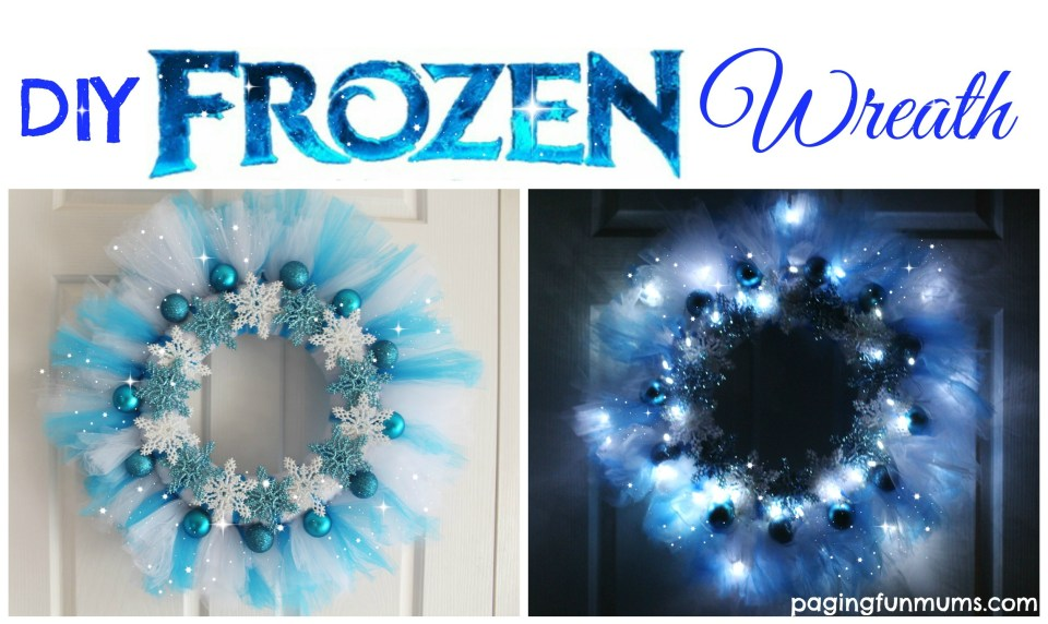 DIY Frozen Wreath 2