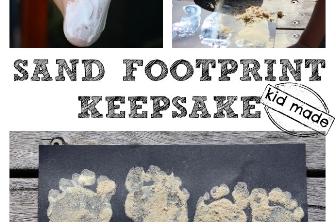 Easy Sand Footprint Keepsake