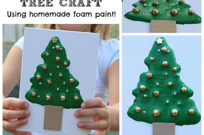 Fun Christmas Craft Idea using Homemade Foam Paint!