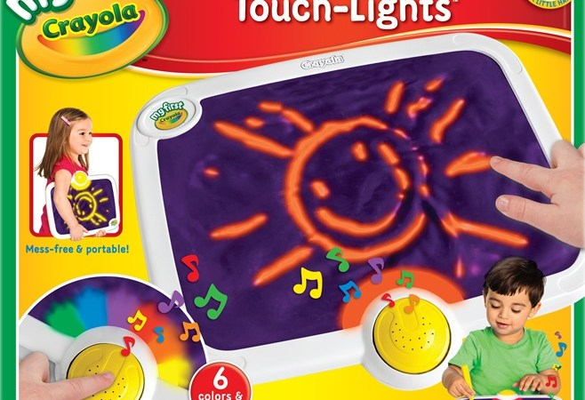 Crayola My First Mess Free Touch Lights – a review of a super FUN product!