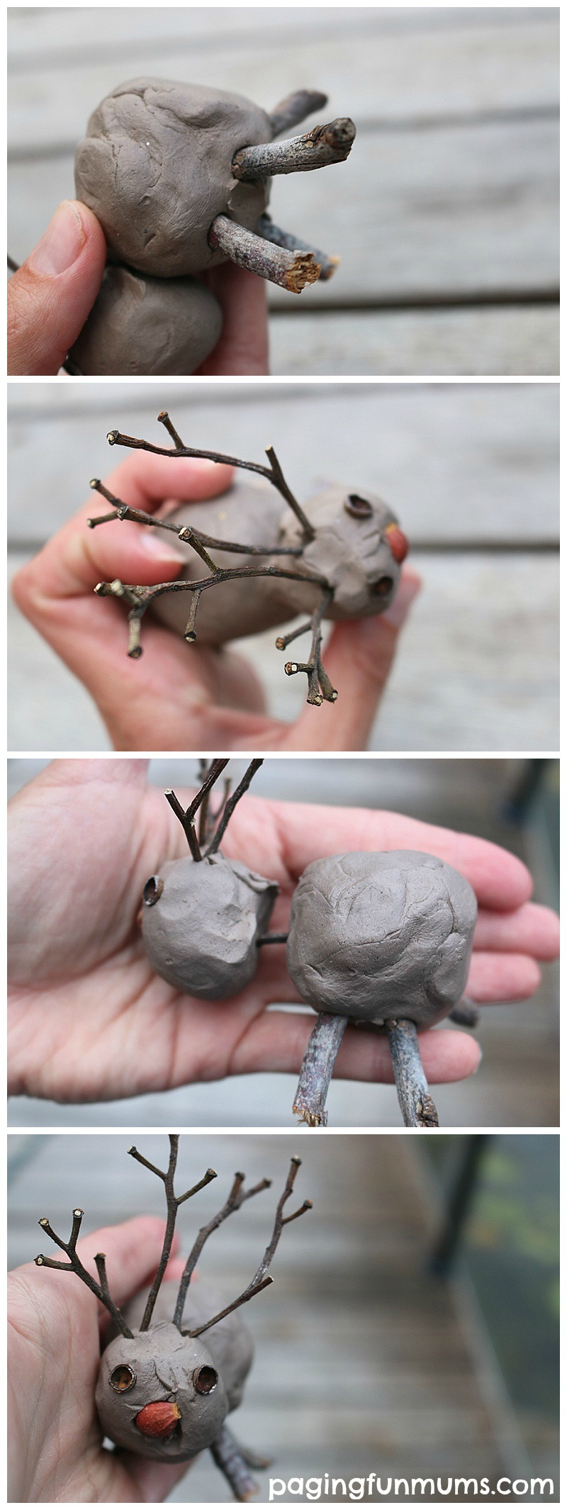 Nature Inspired Christmas Craft - using clay, twigs and other nature items!