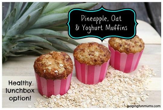 Healthy Pineapple, Oat & Yoghurt Muffins