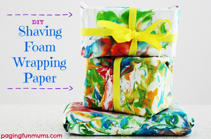 Shaving Foam Wrapping Paper