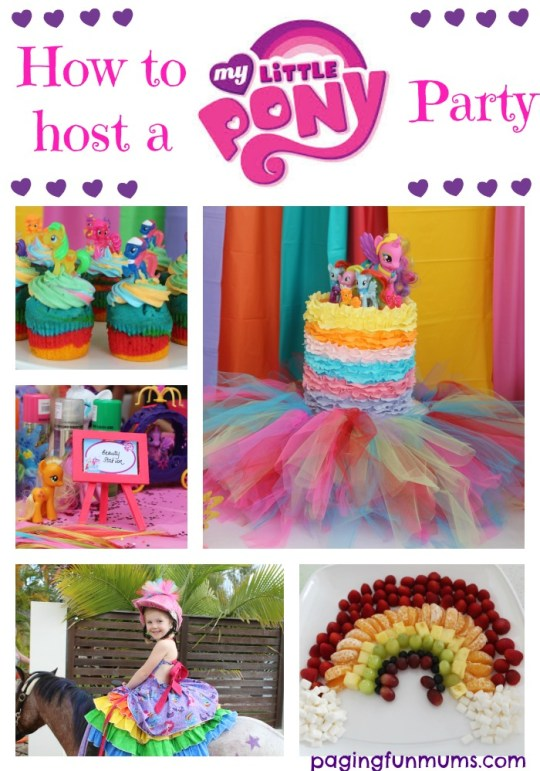 to host a My Little Pony Party