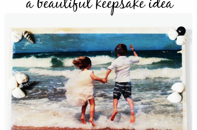 How to make a beautiful keepsake by transferring photos onto wood!