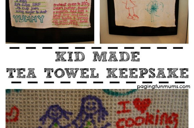 Kid Made Tea Towel Keepsake