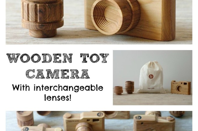 Beautiful Wooden Toy Camera – featured Etsy store!