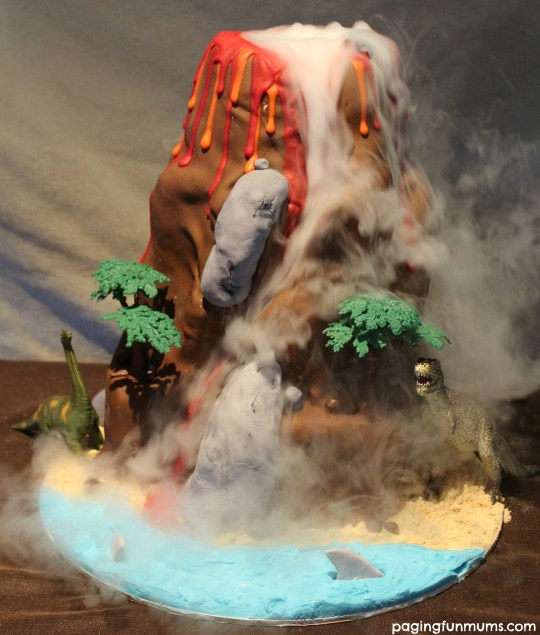 Dinosaur Volcano Cake - So many levels of awesome! Watch the video!