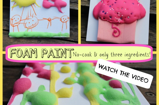 DIY Foam Paint – new video tutorial!