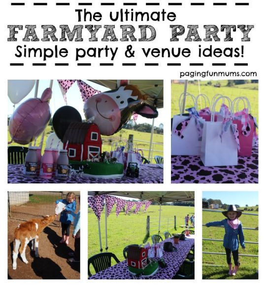 How to plan a Farmyard themed party! Simple and easy ideas!
