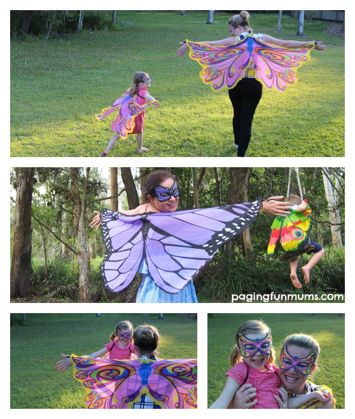 Butterfly wings available in adult and teen sizes too!